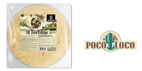 TORTILLAS  30CM ANTALYA 90G (6X18PC)/108P